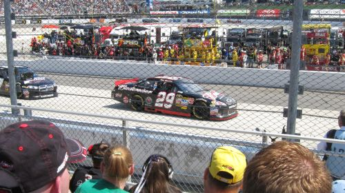 Harvick on track at Martinsville - April 3, 2011